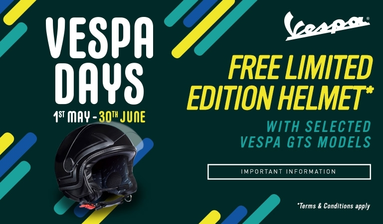 Vespa Open Doors Helmet Offer