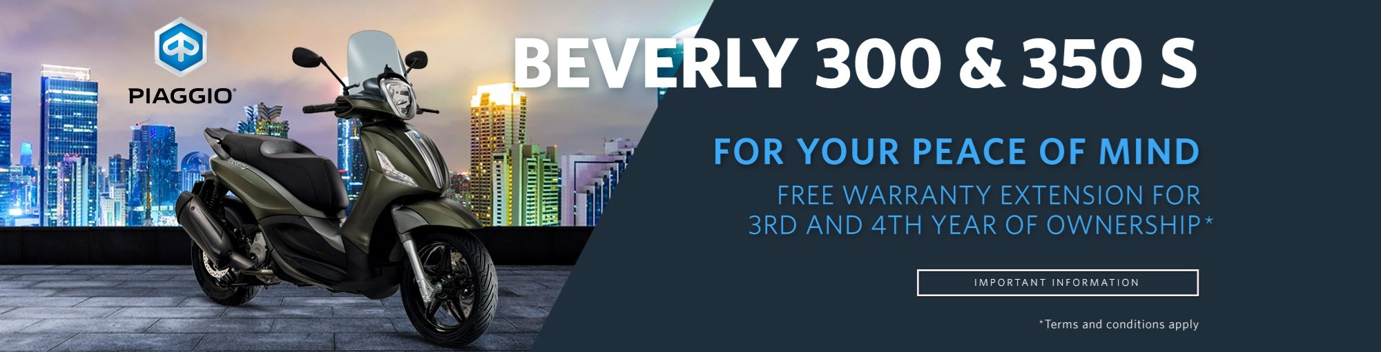 Beverly 300 & 350 S Extended Warranty Offer