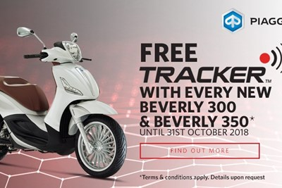 Free Tracker with Selected Piaggio Scooters
